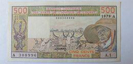 États De L'Afrique De L'Ouest 500 Francs 1979 Lettre A - West African States