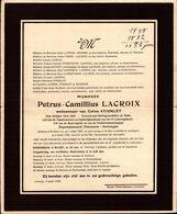 Petrus Camillius Lacroix ° Korbeek-Lo 1887 + Lovenjoel 1958 X Celina Stienlet - Sonstige