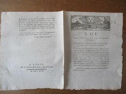 LOI DONNEE A PARIS LE 15 AOÛT 1792 DECRET DE L'ASSEMBLEE NATIONALE DU 20 JUIN 1792 COMITE DE MARINE VAISSEAUX DE L'ETAT - Gesetze & Erlasse