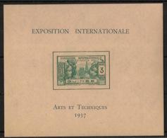 Guinée - 1937 - Bloc Feuillet BF N°Yv. 1 - Exposition Internationale - Neuf Luxe ** / MNH / Postfrisch - Französisch-Guinea (1892-1944)