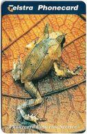 Australia - Telstra (Chip) - P Series 1998 Frogs - Horned Frog, Exp. 01.2000, 5$, 1.000ex, Mint - Australië