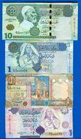 Libye  4  Billets - Libya