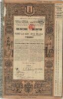 Titre Ancien Orasul Bucaresci Impruntul 4 1/2 %i - Ville De Bucarest Emprunt 4 1/2%- 1898 - Déco - Shareholdings