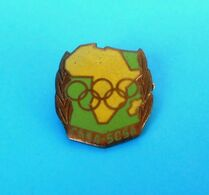 AFRICAN GAMES - Old Enamel Pin Badge * Pan-African Games Jeux Africains Afrikanische Spiele Africa Afrique Afrika RRR - Pin's