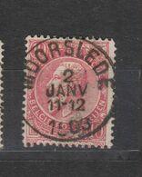 COB 58 Sans Bandelette Oblitération Centrale MOORSLEDE +8 - 1893-1900 Thin Beard