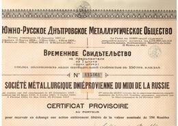 Action Russe - Société Métallurgique Dniéprovienne Du Midi De La Russie - Titre De 1920 - Russia