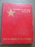 COMMUNIST PARTY OF YUGOSLAVIA, MEMBERSHIP CARD, 1959 WITH PHOTO, - Historische Dokumente