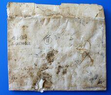 LAC PEU LISIBLE DE VEYNES 13/3/1727 Pour GRENOBLE France Marcophilie Lettre 1701-1800:Précurseur XVIII- - 1701-1800: Précurseurs XVIII