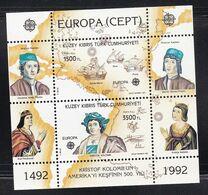 Cyprus (Turkish Posts) 1992 Columbus / Europa CEPT Miniature Sheet MNH - Nuovi
