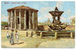ITALIA : ROMA - TEMPIO DETTO DI VESTA ARTIST CARD) - Roma (Rome)