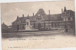 Vilvoorde - Station (Uitg.: Nels Serie 65 No 10) (achterkant Gebruikt Als Reclamekaart) - Vilvoorde