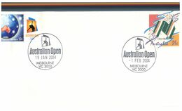 (M 19) Australia - Tennis Open 2004 - Pre-paid Cover With Additional Personalised Stamp  (highly Unusual) - Altri