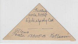 Russland 1914 Dreiecksbrief - Briefe U. Dokumente
