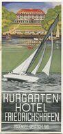Deutschland - Friedrichshafen 30er Jahre - Kurgarten-Hotel 30er Jahre - Faltblatt Mit 11 Abbildungen - Dépliants Touristiques