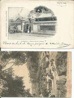 002704 - 2 PCs VIETNAM : PAGODE CHINOISE A CHOLON, 1904 - TRIAN. CHUTES DU DONAI EN SAISON SECHE - Vietnam