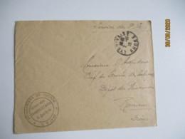 Usine Gillet 9 Quai Serin Prisonniers De Guerre Cachet Franchise Postale Militaire Guerre 14.18 - Guerra Del 1914-18