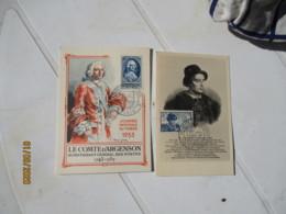 Lot De 11 C M De 1944 A  1959 Carte Maximum Journee Du Timbre - Maximumkaarten