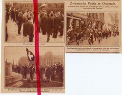 Orig. Knipsel Coupure Tijdschrift Magazine - Oostende - Zwitserse Politie Uit Basel Op Bezoek - 1928 - Unclassified