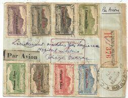 REUNION FRANCE LIBRE DIVERS LETTRE REC ST DENIS 1943 POUR DIEGO SUAREZ + CENSURE + FFI LIAISON  AERIENNE - La Isla De La Reunion (1852-1975)