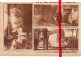 Orig. Knipsel Coupure Tijdschrift Magazine - Grimbergen - De Liermolen & 's Gravenmolen  - 1928 - Oude Documenten