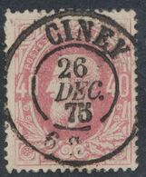 """émission 1869 - N°34 Obl Double Cercle """"Ciney"""". Luxe ! / Collection Spécialisée. - 1869-1883 Leopoldo II"""