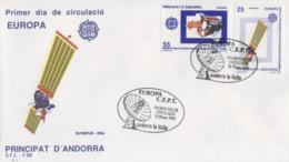 Enveloppe  FDC  1er  Jour   ANDORRE  ANDORRA   Paire  EUROPA    1991 - 1991