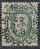 """émission 1869 - N°30 + Cachet Pour Imprimé """"Bruxelles 5"""" (1884). Superbe ! - 1869-1883 Leopoldo II"""