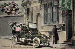 CPA Evreux Eure, Personen In Einem Automobil - Cartes Postales