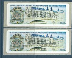 Vignette De Ditributeur Lisa - ATM - Lisa - Paris - La Conciergerie - Avec Reçu - 2010-... Illustrated Franking Labels