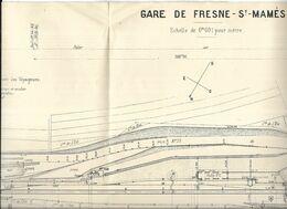 70 - Plan De La Gare De Fresne-St-Mamès ( Haute-Saône ) De 1913, Révisée En 1933 - Eisenbahnverkehr