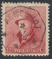 """Roi Casqué - N°168 Obl Télégraphique """"Aerschot"""" (3 étoiles). Superbe Centrage ! - 1919-1920  Cascos De Trinchera"""