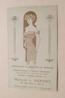 Mma J. DUPONT Spécialité De CORSETS Sur Mesure > Rue ROYALE 33 Calais ( Carte Publi ) Anno 19?? ( Voir Photo ) ! - Calais