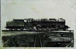 TRAIN - Locomotive Française ( Alsace) Machine Type Santa Fé Construite à Graffenstaden (Cpa Collection  F. Fleury  N°) - Trains