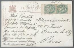 France N°111 (paire De Carnet) Sur CPA 1901 De NEUILLY En THELLE Pour Paris - (B2954) - 1877-1920: Periodo Semi Moderno
