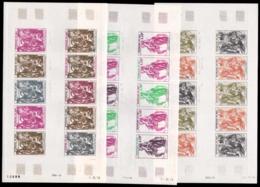 MALI Poste Aérienne  ** 346 346/348, 3 Feuilles Entière De 10 Essais De Couleurs Différents: Gravures D' Albrecht Dürer - Malí (1959-...)