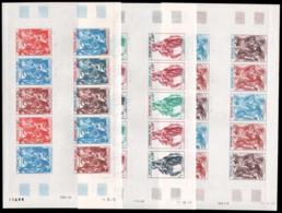 MALI Poste Aérienne  ** 346 346/348, 3 Feuilles Entière De 10 Essais De Couleurs Différents: Gravures D' Albrecht Dürer - Mali (1959-...)