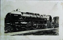 TRAIN - Locomotive Française  (Chemins De Fer De L'ETAT) Machine Compound 4 Cyl 1933  (Cpa Collection  F. Fleury  N°) - Trains