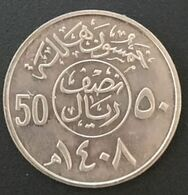 ARABIE SAOUDITE - Lot De 2 Pièces - 50 &100 HALALA 1988 ( 1408 ) - Fahad Bin Abd Al-Aziz - KM 64 - KM 65 - Saudi Arabia - Saudi Arabia