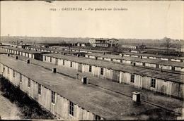 CPA Griesheim Bei Darmstadt, Gesamtansicht, Baracken - Sonstige