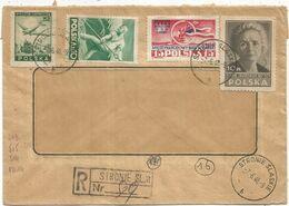 POLAND POLSKA MARIE CURIE +DIVERS LETTRE COVER FENETRE REC STRONIE SLASKIE 7.6.1948 - Briefe U. Dokumente