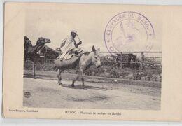 Maroc - Marocain Se Rendant Au Marché Âne Chameau - Correspondance Tampon Cachet Campagne Militaire 1912 - Sin Clasificación