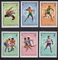 Maldives 1976, Sports, Minr 663-668 MNH - Malediven (1965-...)