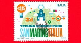 ITALIA - Usato - 2015 - Parco Scientifico Tecnologico San Marino-Italia - 3D - 0,95 € - 2011-...: Oblitérés