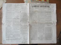 LA REVUE ARTESIENNE DU 5 MARS 1845 ARRONDISSEMENT DE BETHUNE CACHETS FISCAUX ET SIGNATURE DU MAIRE DE BETHUNE TEXTE - Zeitungen