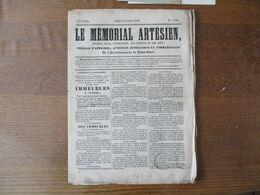 LE MEMORIAL ARTESIEN DU 22 AOUT 1846 ARRONDISSEMENT DE SAINT-OMER CACHETS FISCAUX ET MAIRIE DE ST-OMER  SIGNATURE MAIRE - Zeitungen