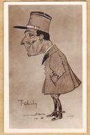 Hu160 → Carte-Photo Caricature Sergent De La 5e Compagnie 1940s CpaWW2 Illustrateur PICH...? - Humorísticas