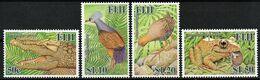 2006 Fiji Extinct Species: Fijian Crocodile, Ground Pigeon, Giant Rail, Giant Frog Set (** / MNH / UMM) - Oiseaux