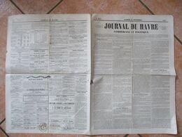 JOURNAL DU HAVRE DU 24 NOVEMBRE 1849 CACHET MAIRIE ET SIGNATURE DU MAIRE - Zeitungen