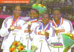 Carte Postale - Le Relais 4 X 100 M Champion Du Monde (Christine Arron, Patricia Girard, Sylviane Félix, Muriel Hurtis) - Atletica