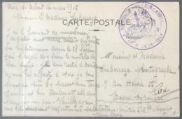 France CPFM - WW1 - 14/03/1915 - Cachet HOPITAL - D'AIRE - SUR - ADOUR Le Medecin-Chef - (B2978) - WW I